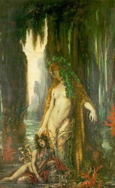 The Poet and the Siren by Gustave Moreau :: artmagick.com