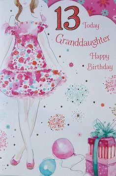International Cards & Gifts Special Granddaughter Birthday Card - Pink Balloons - Foil and Flitter Finish Birthday Messages, Birthday Wishes, Birthday Cards, Happy 12th Birthday, 13th Birthday, Office Branding, Pink Balloons, 50th Anniversary, Grandkids