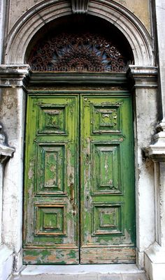 Green Door Art Print by Kim Ramage via Society6. Love the peel-y green. #lifeinstyle #greenwithenvy