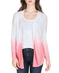 Dip-dye Long-sleeve Cardigan, Shell Pink