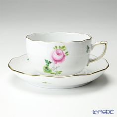 Herend Vienna rose simple Tea cup and saucer
