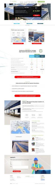 T-Green, oltre 650 impianti fotovoltaici certificati installati in tutto il nord Italia! @yourbiz  #web #design #layout #website #webdesign