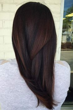 Chocolate brown hair looks very beautiful and 'tasty' as it reminds of the sweet flavour of chocolate, and who doesn't love chocolate? Besides, this hair color is compatible with every skin type, and, thus, will suit every lady.