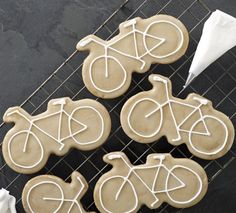 Betty's Bike Biscuits: a continental speciality, this handmade spiced biscuit is decorated with water icing and a hand-piped bicycle.