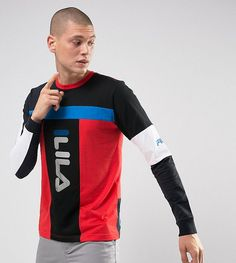 Get this Fila Vintage's long-sleeved t-shirt now! Click for more details. Worldwide shipping. Fila Black Long Sleeve T-Shirt With Mesh Panel Exclusive To ASOS - Black: Top by Fila Vintage, Soft-touch jersey, Crew neck, Long sleeves, Regular fit - true to size, Machine wash, 100% Cotton, Our model wears a size Medium and is 6'2�/188 cm tall, Exclusive to ASOS. Founded in 1911 by the Fila brothers in Biella, Italy, Fila packs more than 100 years of heritage into its streetwear designs. After…