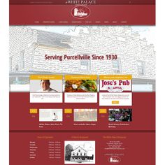 New websbite design for The White Palace Restaurant, located in the heart of Purcellville. See it in action at: whitepalacepurcellville.com.