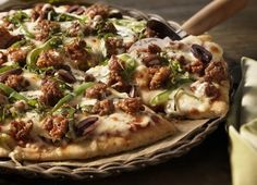 Pizza Cucina with Johnsonville Hot Italian Sausage