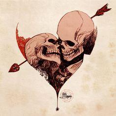 Cool Skull Tattoos For Women – My hair and beauty Kunst Tattoos, Skull Tattoos, Body Art Tattoos, Arte Horror, Horror Art, Dark Art Drawings, Tattoo Drawings, Gothic Drawings, Tatuagem Hot Rod