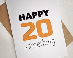 Happy 20 something Happy birthday card orange 20 by AvenirCards