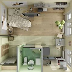 Majestic 18 Coolest Studio Apartment Layout https://decoratoo.com/2018/02/16/18-coolest-studio-apartment-layout/ For you who are currently planning on living in a studio apartment, or even has already purchased one, you need the layout of the apartment so that it will be easier to decorate it.
