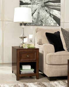 Ashley Kishore T594-3 Signature Design Rectangular End Table -