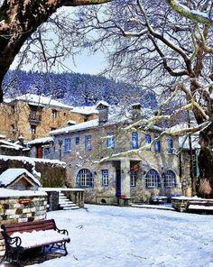 Tsepelovo, Epirus Victoria Reign, Road Trip, Destinations, Wanderlust, Tv Land, Wonderful Places, Land Scape, Mansions, Architecture