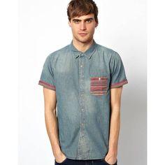 Precio Native youth Camisa vaquera con bolsillo en estampado azteca de - Camisetas hombre : Tiendas de venta, Comprar online
