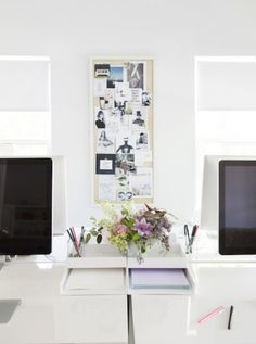 White lacquer: http://www.stylemepretty.com/living/2015/03/19/30-of-the-prettiest-offices-ever/