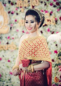 Other Asian And Pacific Clothing 155245 Khmer Cambodia Traditional Wedding Bridal Shirt BUY IT NOW ONLY 125 On EBay