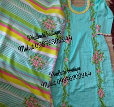 Embroidery Fashion, Embroidery Dress, Embroidery Patterns, Hand Embroidery, Machine Embroidery, Dress Neck Designs, Blouse Designs, Indian Suits, Indian Wear