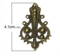 Vintage Victorian Styled Steampunk Filigree Ornate Vase  Embellishment in Antique Bronze/Brass Finish