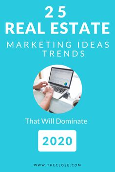 Real Estate Marketing Ideas & Trends For 2020 Need help with your real estate marketing ideas? Here are 25 marketing ideas and trends that will help you close more sales in Real Estate Career, Real Estate Business, Real Estate Leads, Real Estate Tips, Real Estate Investing, Marketing Plan, Real Estate Marketing, Online Marketing, Real Estate Advertising