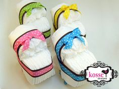 Mini Diaper Cake Carriages - only 15 diapers needed!