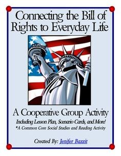 This Common Core reading and social studies activity is interesting and thought-provoking for students. Students will work in a cooperative group to examine scenarios with realistic people. They will decide if the person's rights were respected, according to the Bill of Rights. Students are also asked to correlate the scenario to an Amendment in the Bill of Rights. 3rd Grade Social Studies, Social Studies Activities, Social Studies Classroom, History Classroom, Teaching Social Studies, Student Teaching, Government Lessons, Teaching Government, Middle School History