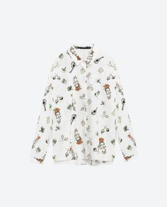 Image 8 of PRINTED POPLIN SHIRT from Zara