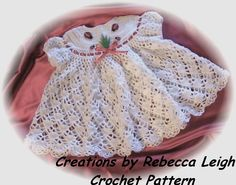 Crochet Pattern for Baby Dress ......Blue by littlebuddydolls