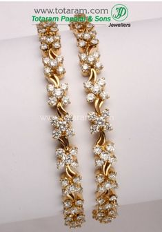 Check out the deal on 1 Pair of Diamond Bangles in 18K Gold at Totaram Jewelers: Buy Indian Gold jewelry & 18K Diamond jewelry