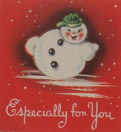 Vintage Snowman Gift Tag