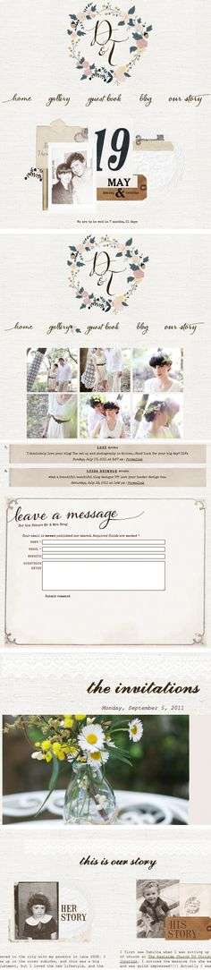 Tabitha Emma » Blog Archive » wedding wednesday: our website