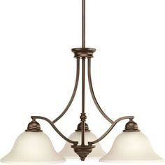 P4559-20 Spirit Antique Bronze Three-Light 26.5-Inch Chandelier