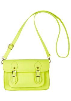 Neon cross body bag, $24.50 at delia's