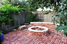 Firepit Of Patio Designs Among Bricks
