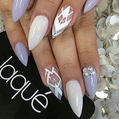 Stiletto Nails are on point. Literally. Nails, nails, nails, nail art. #nails…