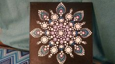 Snowflake Mandala Canvas Dot Art Hippy Decor Home Decor