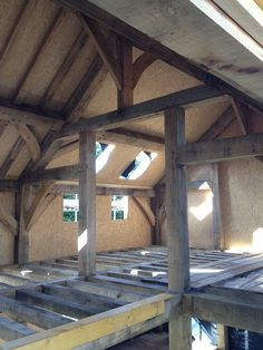 Old meets new: timber frame and SIPS - Castle Ring Oak Frame Oak Framed Buildings, Timber Buildings, Timber Frame Homes, Timber House, Timber Frames, Sips Panels, Oak Frame House, Casas Containers, Medieval Houses