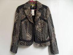 Acorn-Lined-Cotton-Blend-Black-Gold-Patterned-Blazer...O MY!!! GORGz!!!! pERRY