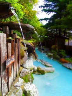 Spring Spa, Spring Resort, Beautiful Places In Japan, Beautiful World, Japanese Hot Springs, Japanese Bath, Winter Images, Cool Pools, Pool Designs