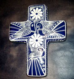 Mexican folk art hand painted cross (Home Decor). $29.95, via Etsy.
