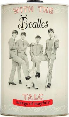 "1964 ""MARGO OF MAYFAIR"" Beatles Talcum Powder."