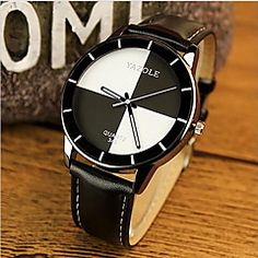 e4088fcb2651   8.99  YAZOLE Women s Wrist Watch Quartz Leather Black   White   Red  Casual Watch Analog Ladies Charm Casual Fashion - White Black Red One Year  Battery ...