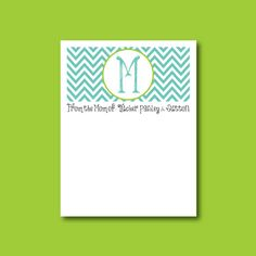 Chevron Notepad, Initial Notepad, From the mom of notepad