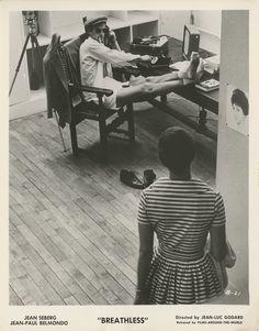 American poster for BREATHLESS/ À bout de souffle (Jean-Luc Godard, France, 1960) | Designer: Uncredited