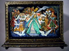 """Favorite Fairy Tales"", Palekh Lacquered box"