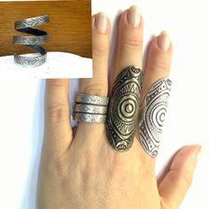 rope silver ring gypsy rings tribal ring boho ring
