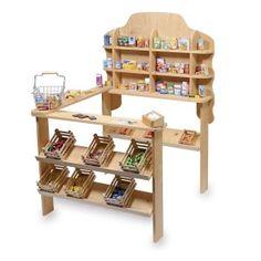 Houten Speelgoedwinkel Nature waarin allerlei speelgoed verkocht kan worden van onze jonge winkelbezitters. Alles voor de halve prijs natuurlijk, omdat het tweedehands is, ook leuk voor de rommelmarkt.