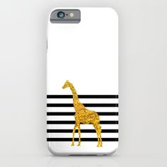 Gold Giraffe iPhone & iPod Case