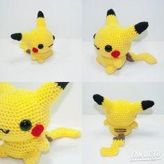 Pikachu Pikachu, Amigurumi Pikachu, Cactus Amigurumi, Mini Amigurumi, Amigurumi Animals, Pikachu Crochet, Amigurumi Doll, Crochet Animals, Amigurumi Patterns