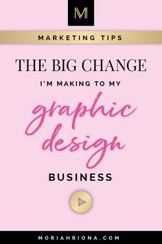 As your business grows and your brand evolves, so does your audience! In this video I'm sharing the changes I'm making to my graphic design business and branding studio for my content marketing. Business Marketing Strategies, Small Business Marketing, Sales And Marketing, Business Branding, Business Design, Content Marketing, Creative Business, Business Tips, Graphic Design Tips