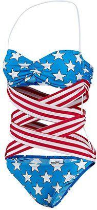 Jeremy Scott Stars and Stripes Swimsuit.. new take on WONDERWOMAN!
