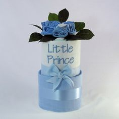Little Prince baby nappy cake 2 tier #nappycakes #babynappycakes #littleprince